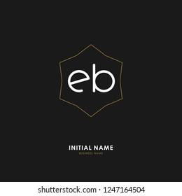 E B EB Initial logo letter with minimalist concept. Vector with scandinavian style logo.
