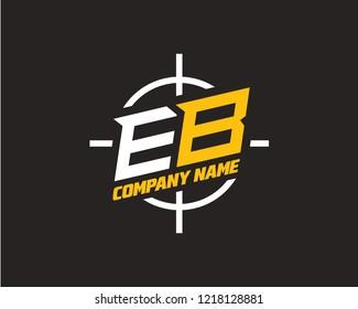 E B Initial logo template vector