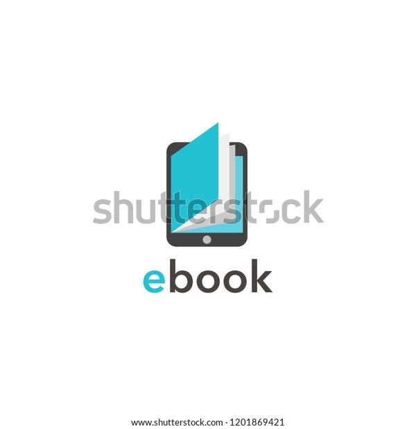 e book flat icon.Vector illustration.