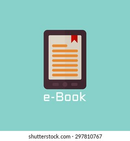 E book reader vector flat icon