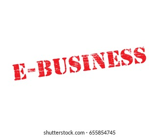 E Business grungy stencilled word symbol