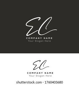 E C EC Initial letter handwriting and signature logo.