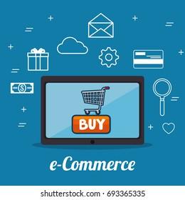 e commerce concept online shopping