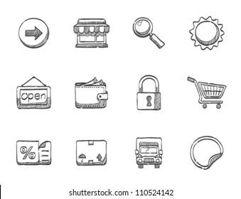 E commerce icon series in sketch