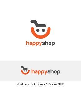E commerce logo design vector. Online shop logo design idea
