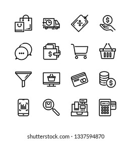 E Commerce Online Shopping Related Icons