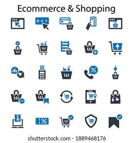 E commerce shopping icon.market,set,bag(vector illustration)