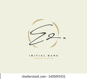 E D ED Beauty vector initial logo, handwriting logo of initial signature, wedding, fashion, jewerly, boutique, floral and botanical with creative template for any company or business.
