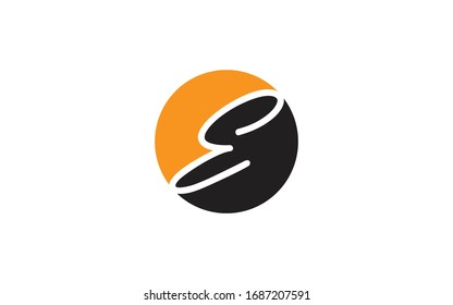 E EE or EEE Uppercase Cursive Letter Initial Logo Design Template Vector Illustration