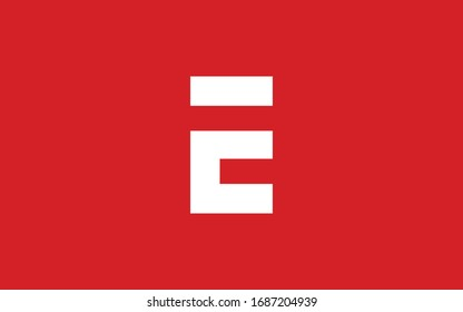 E or EE or EEE Uppercase Letter Initial Logo Design Template Vector Illustration