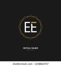 E E EE Initial logo letter with minimalist concept. Vector with scandinavian style logo.