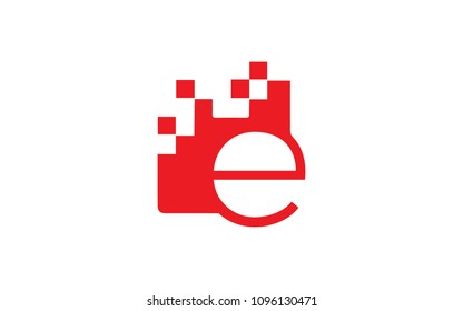e ee Letter Initial Logo Design with connecting Dots Vector Illustration