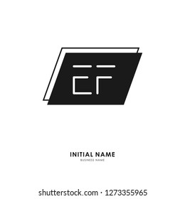 E F EF Initial logo letter with minimalist concept. Vector with scandinavian style logo.