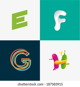 E F G H letters