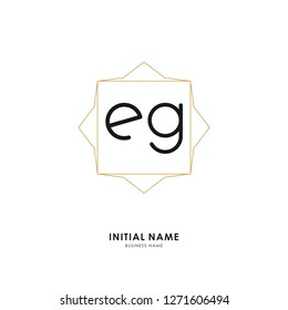 E G EG Initial logo letter with minimalist concept. Vector with scandinavian style logo.
