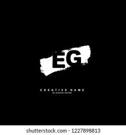 E G EG Initial logo template vector
