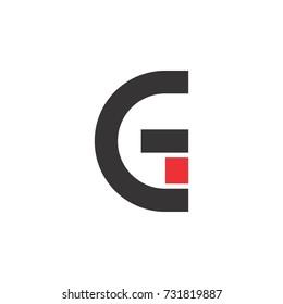 e and g letter logo