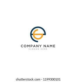 E and G letter Logo Template Design Vector, Emblem, Design Concept, Creative Symbol, Icon