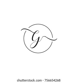 E and G letter vector logo template