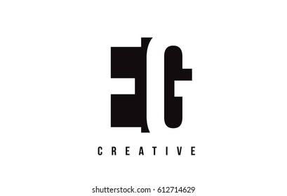 EG E G White Letter Logo Design with Black Square Vector Illustration Template.