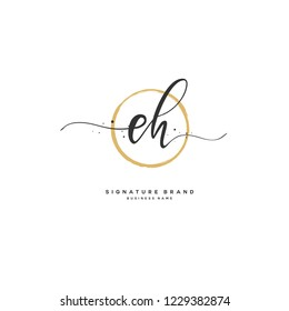 E H EH Initial logo template vector
