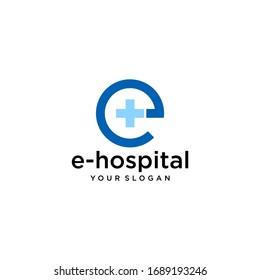 e Hospital Logo Image Vector Template