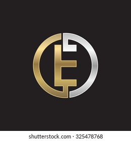 E initial circle company or EO OE logo black background