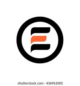 E initial logo and round