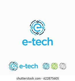 E initial Technology Logo designs template
