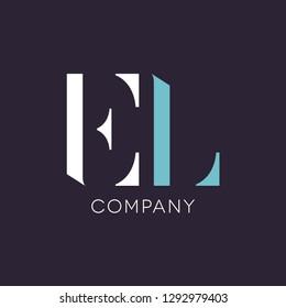 E L logo design for company