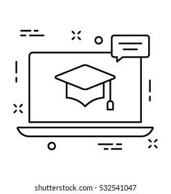 E Learning Vector Icon