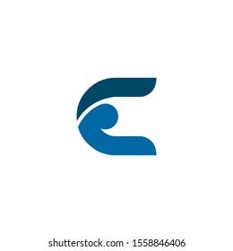 E letter initial icon logo design inspiration vector template