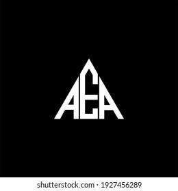 A E A letter logo abstract design on black color background. aea alphabet