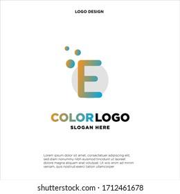 E letter logo, business logo design, vector icon.