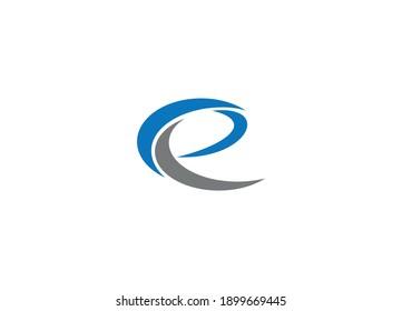 E letter Logo Design with Creative Modern vector icon template