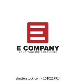 E letter logo design vector template