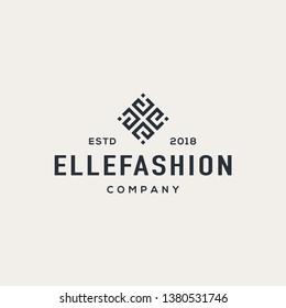 E letter logo design vector illustration.