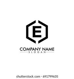 e letter vector logo