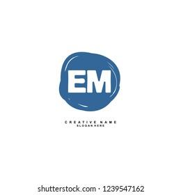 E M EM Initial logo template vector. Letter logo concept