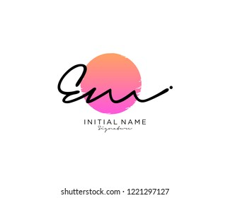 E M Signature initial logo template vector