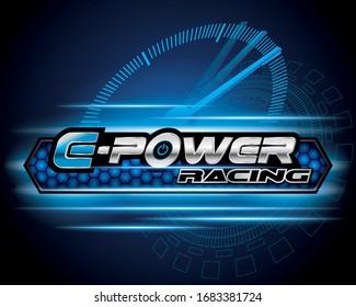 E- Power clean energy logo concept design vector.