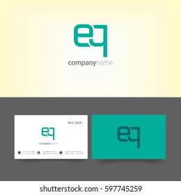 E & Q Letter logo, with Business card Template