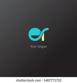 E & R double letter joint logo