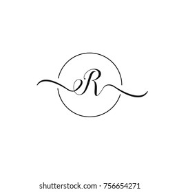 e and r letter vector logo template