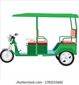 E  rickshaw vector art and illustration