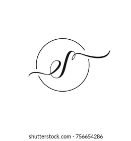 e and s letter vector logo template