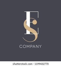 E S logo