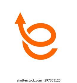 e shop logo design template. E Letter Logo.