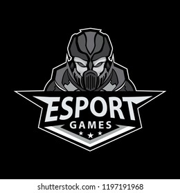 E sport, sports Badege logo mascot