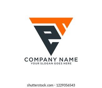 E T Initial logo template vector